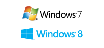 Windows XP, Vista, 7, 8, 10 に対応